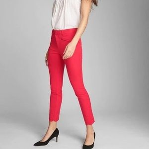 GAP Skinny Ankle Eyelet Embroidery Red size 00/24